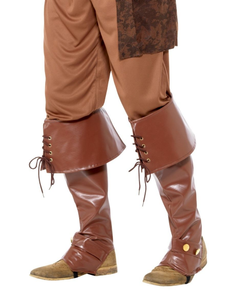 Deluxe Pirate Bootcovers - Brown